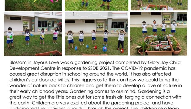 Glory Joy CDC SSDB 2021: Our gardening project  Blossom in Joyous Love ❤️