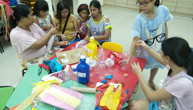 "PCF Sparkletots Preschool @ BBE Blk 285C ""Recycle It and Get Fit"""