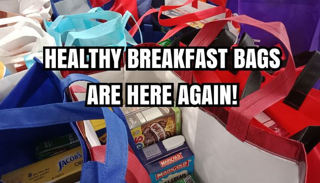 SSDB 2019 - HEALTHY BREAKFAST BAGS - EVANGEL KINDERGARTEN COMMUNITY DAY - HELPING HANDS PROJECT