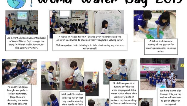 World Water Day at Little Footprints Preschool @ Balestier (March 2019)