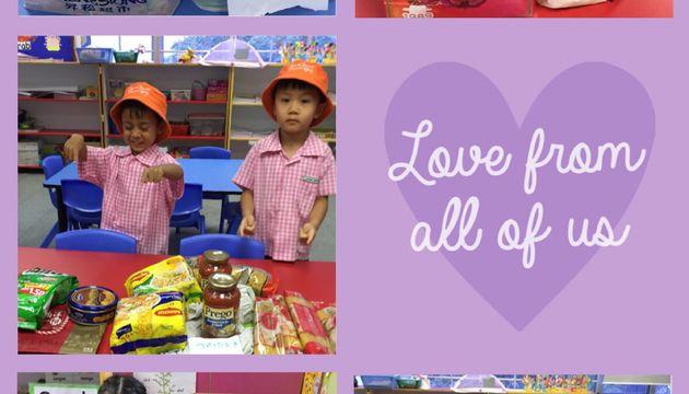 SSDB 2019 @ Newton Kindergarten. Love & Care for the less fortunate children.