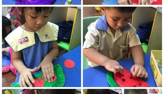 Children's Busy Hands in making Crafts and prepapring Healthy Food