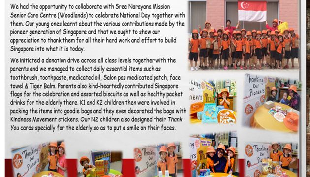Sweetlands Childcare @ Woodlands Blk 608 - Thanking Our Pioneers