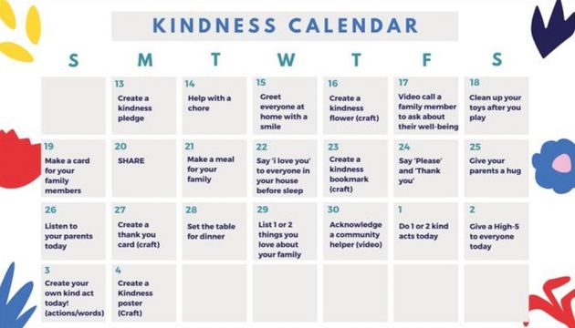 Kindness: Caring for our family and friends