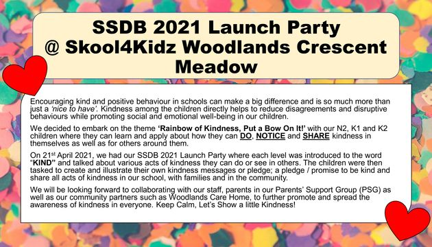 SSDB 2021 Launch Party - Rainbow Of Kindness, Put a Bow On It!